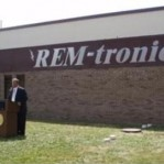 REM-tronics sign on building